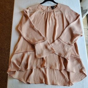 Mossimo Blush color long sleeve blouse sz XL
